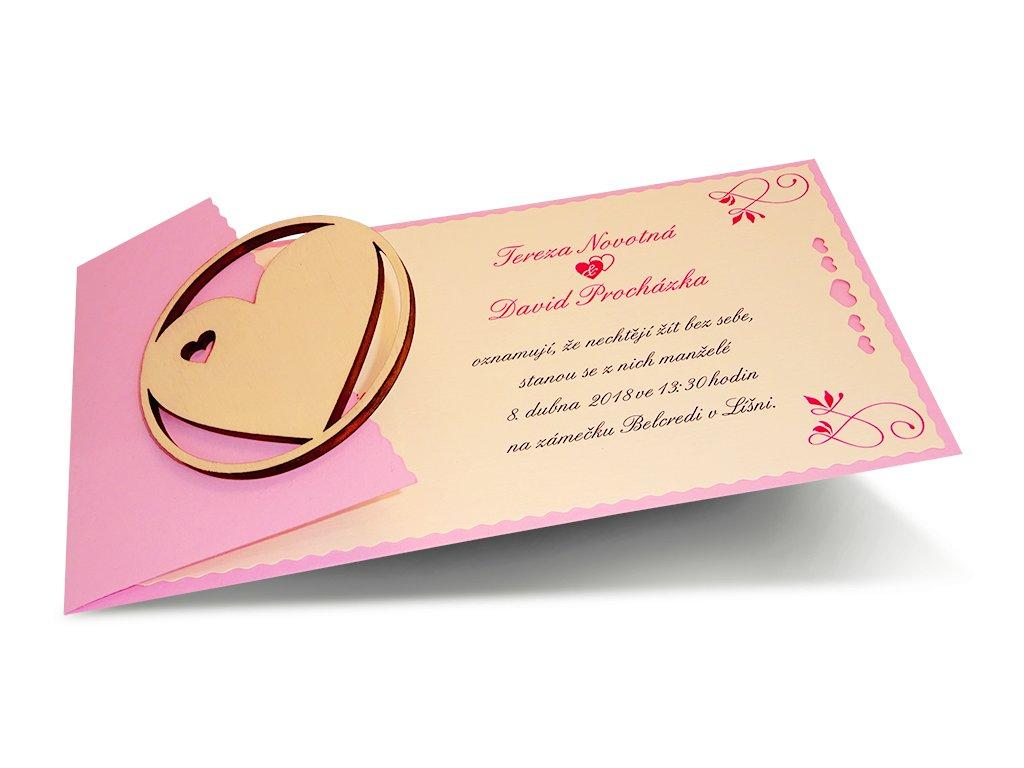 Svatební oznámení - vlnky