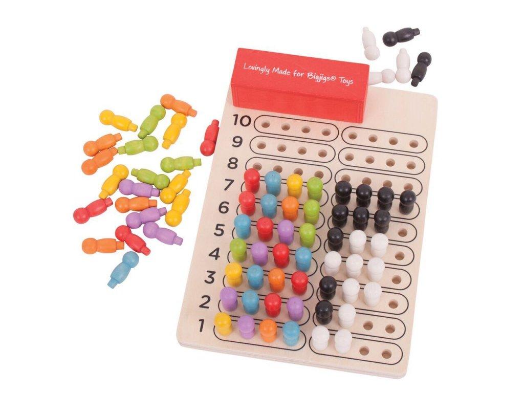 Dřevěná logická hra Bigjigs Toys Logik