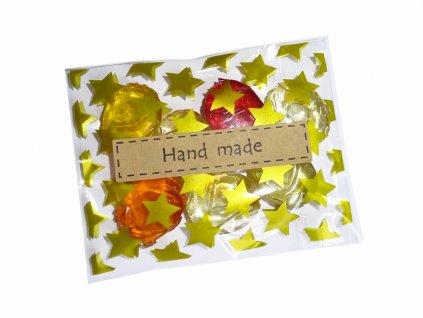Samolepka Hand made - obdélník (30 ks)