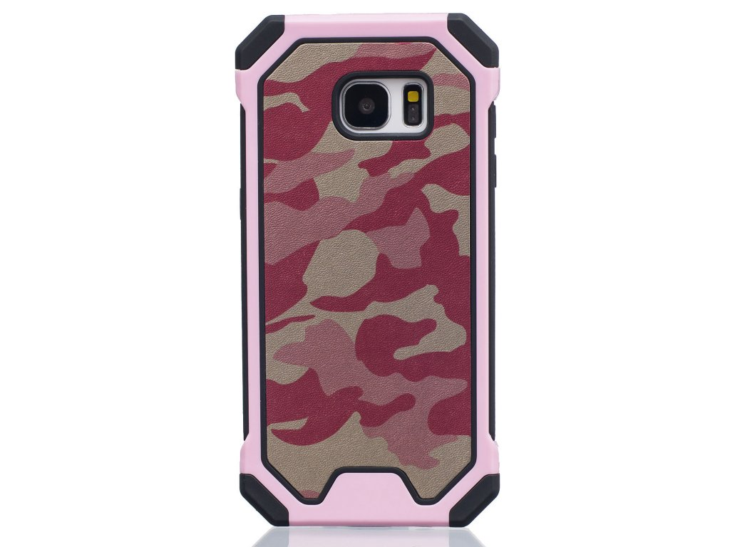 Gumený maskáčový kryt (obal) pre Samsung Galaxy S7 Edge - ružový