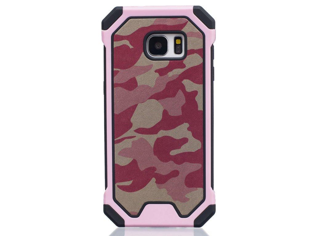 Gumený maskáčový kryt (obal) pre iPhone 5/5S/SE - ružový