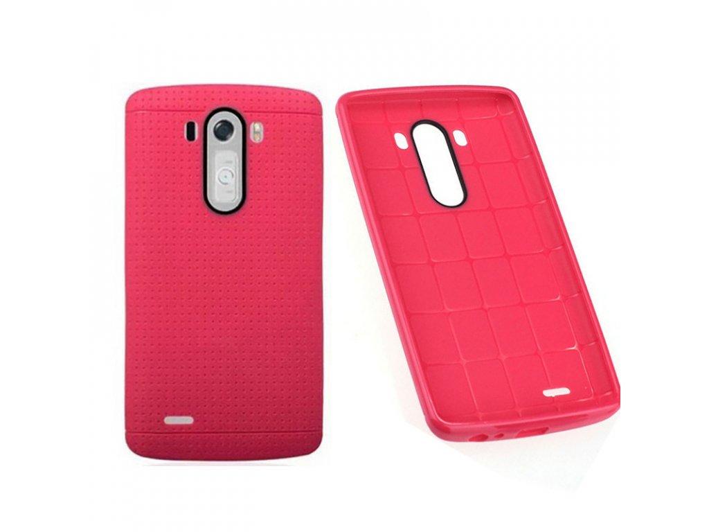 Gumený kryt (obal) pre LG G3 - pink (ružový)