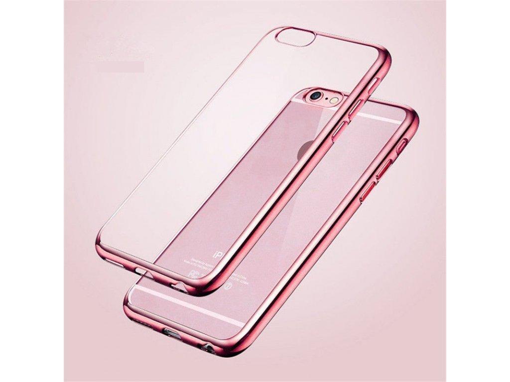Silikónový kryt na Huawei P Smart (ružový okraj)