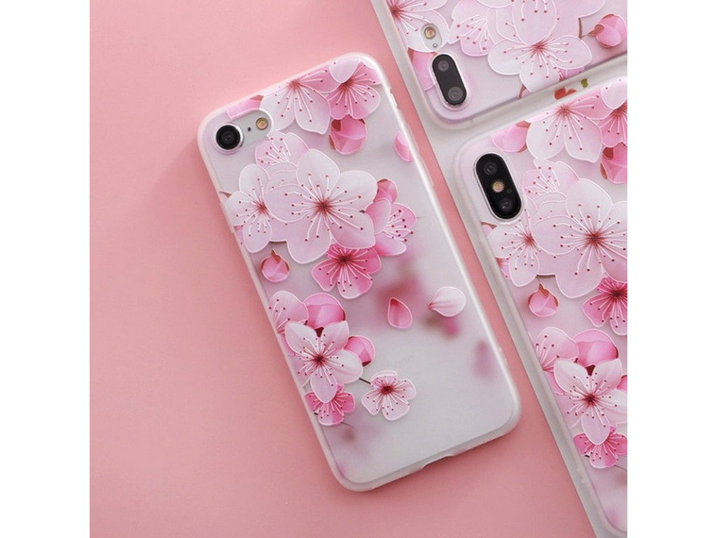 Silikónový kryt (obal) pre iPhone X/XS - kvet 4