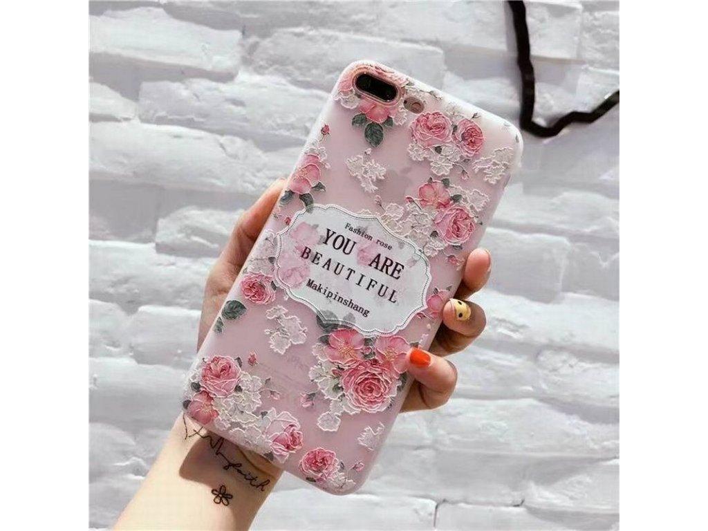 Silikónový kryt (obal) pre iPhone 6+/6S+ (Plus) - kvet 5