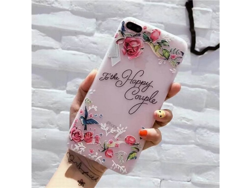 Silikónový kryt (obal) pre iPhone 6+/6S+ (Plus) - kvet 6