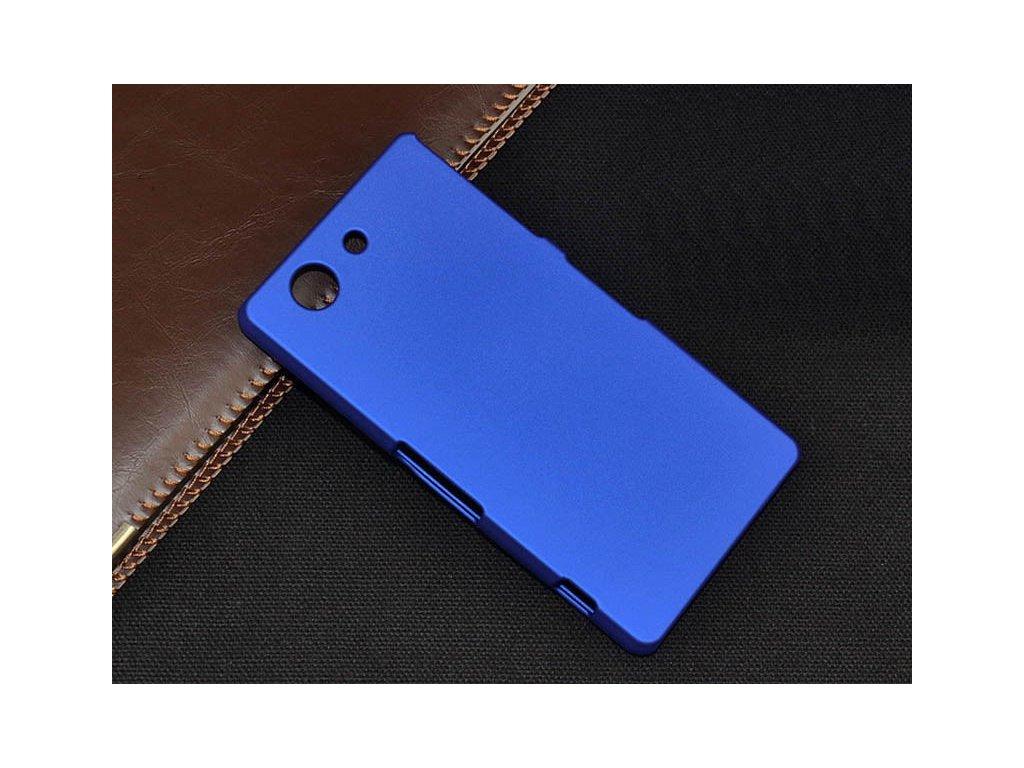 Plastový kryt (obal) pre Sony Xperia M4 aqua - dark blue (tm. modrý)