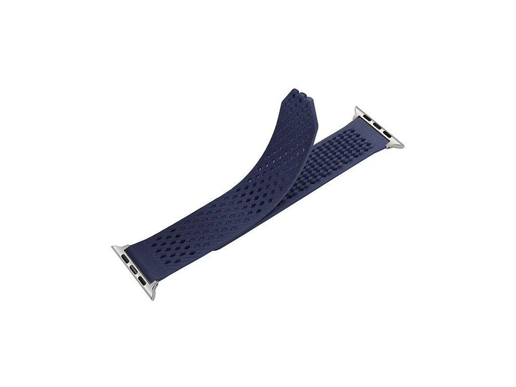 Silikónový remienok pre Apple Watch 38mm - modrý