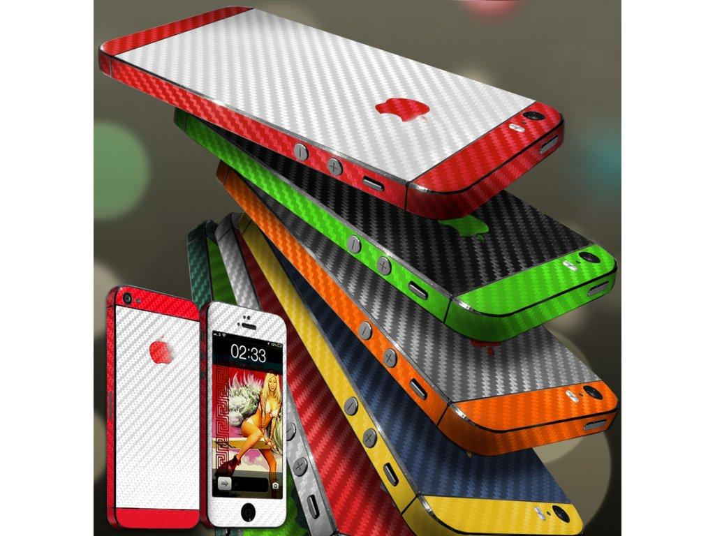 Dizajnová wrap fólia pre Iphone 4/4S - čierno-zelená