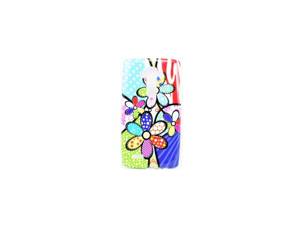 Silikónový kryt (obal) pre LG G4 - kvety