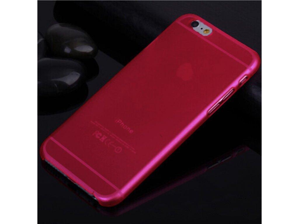Ultra tenký plastový kryt na iPhone 6+/6S+ červený