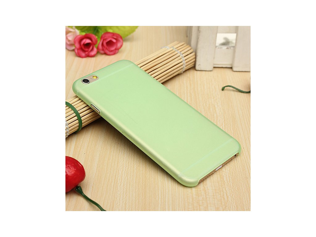 Ultra tenký plastový kryt (obal) pre iPhone 6/6S - green (zelený)
