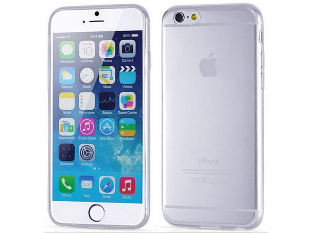 b850c13828f ... Silikónový kryt (obal) pre iPhone 6/6S - clear (priesvitný) ...