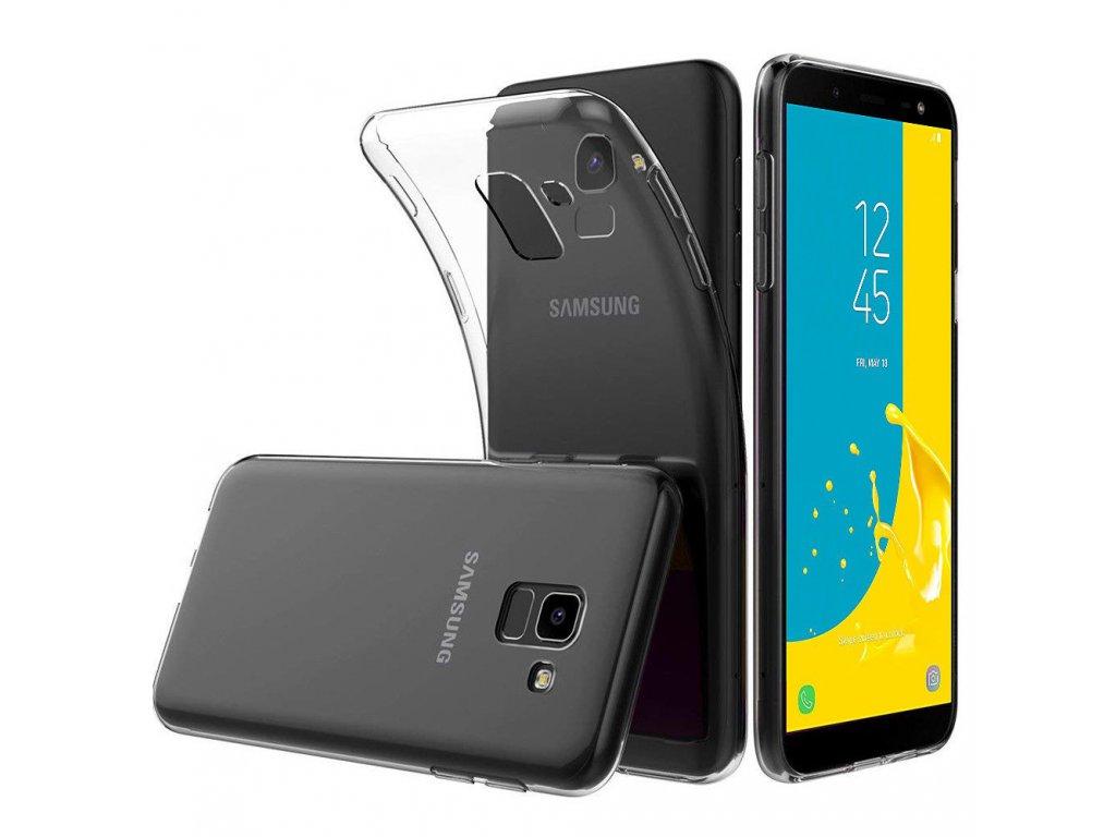 f7937c36768 Silikónový kryt (obal) pre Samsung Galaxy J6+ (Plus) - clear ...