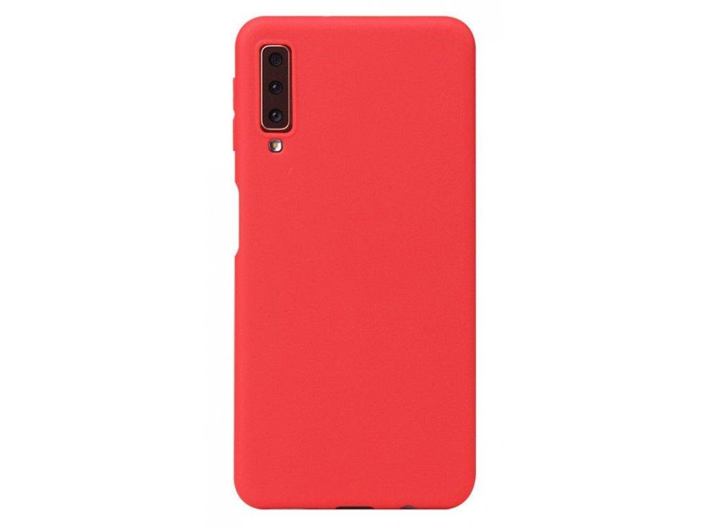 Silikónový obal na Samsung Galaxy A7 2018 červený