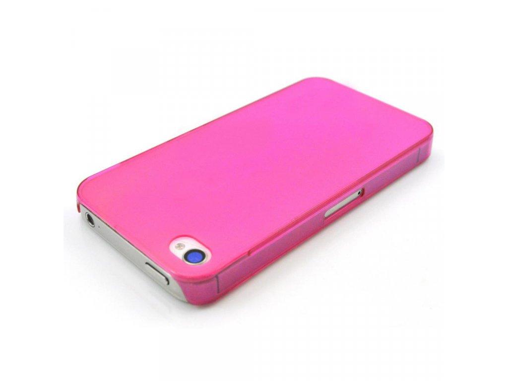 Plastový slim kryt na iPhone 4/4S ružový