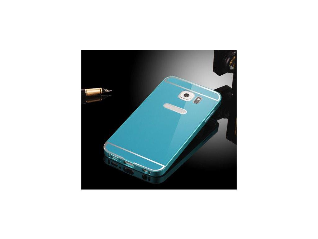 Hliníkový kryt (obal) pre Samsung Galaxy S7 Edge - tyrkysový (tyrkys)