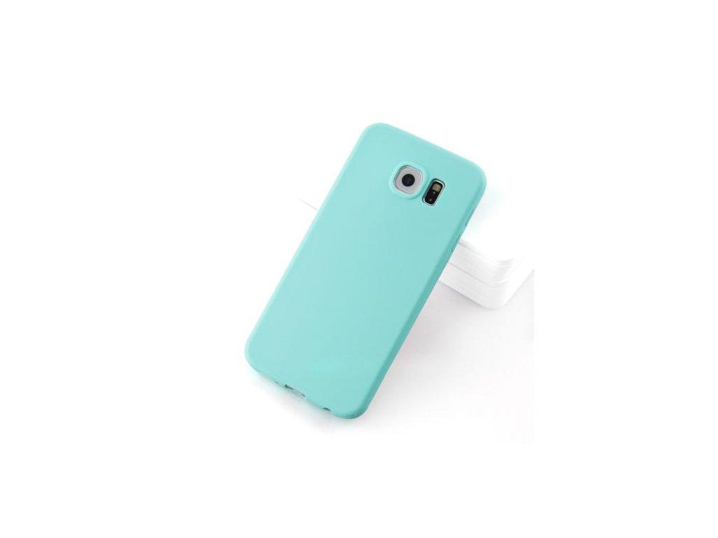 Silikónový kryt (obal) pre Samsung Galaxy S6 Edge Plus - tyrkysový (tyrkys)
