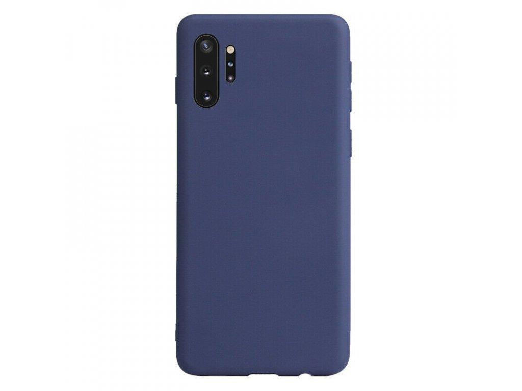 Silikónový kryt (obal) pre Samsung Galaxy Note 10+ (Plus) - dark blue (tm. modrý)