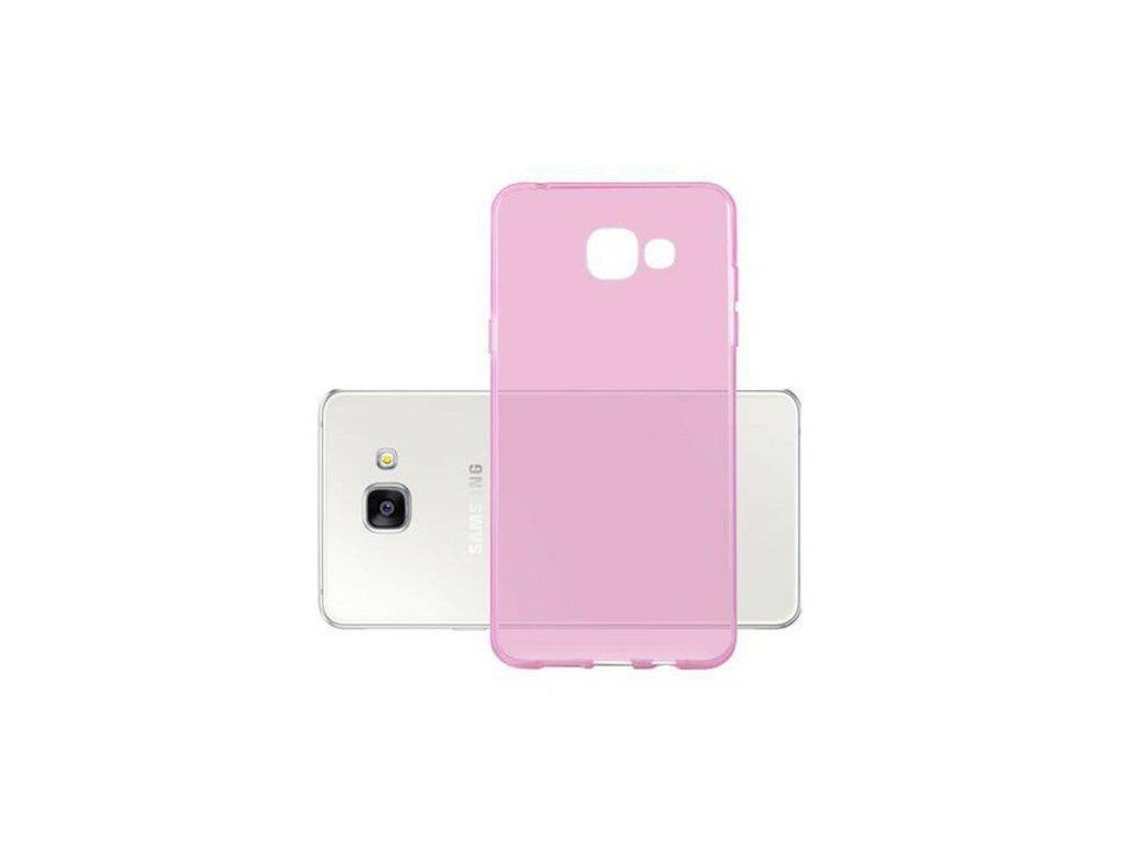 Silikónový kryt (obal) pre Samsung Galaxy A3 2016 - priesvitný ružový