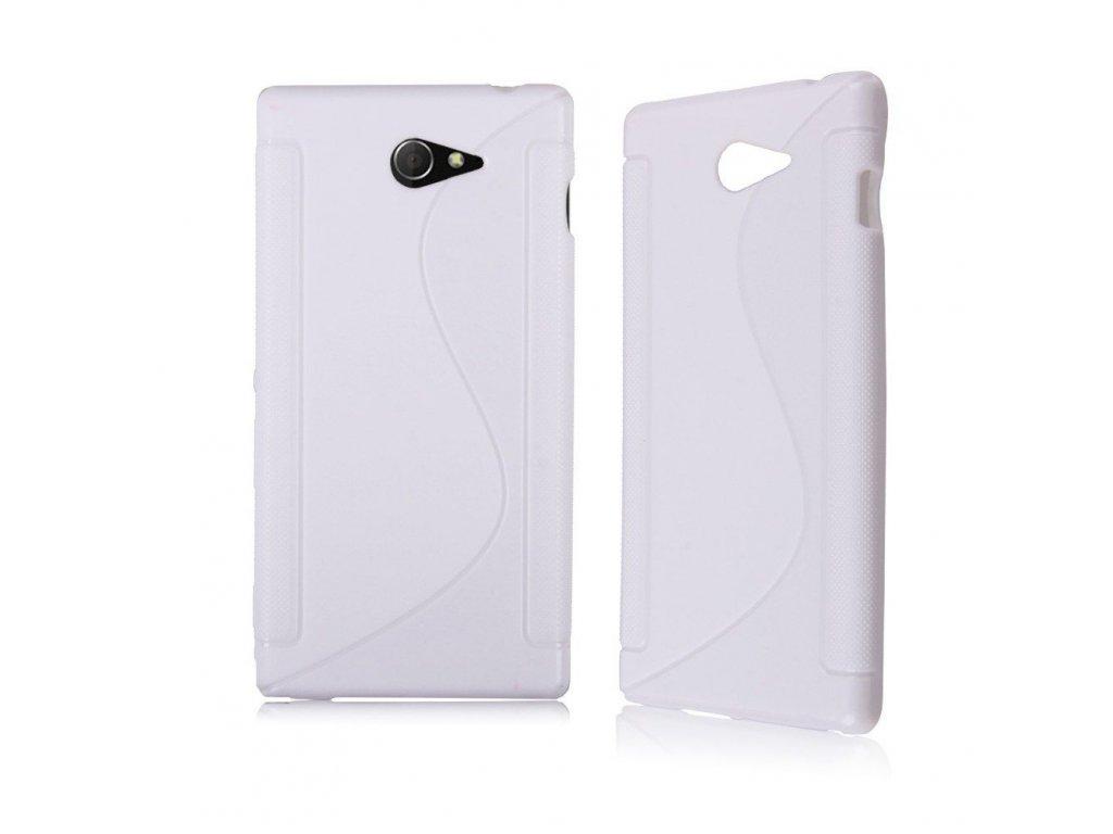 Silikónový kryt na Sony Xperia M2 biely