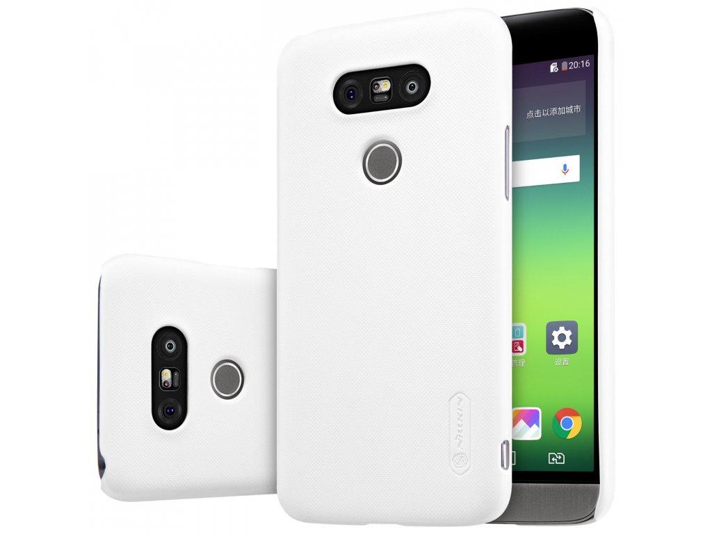 Plastový Nillkin kryt (obal) pre LG G5 - biely (white)