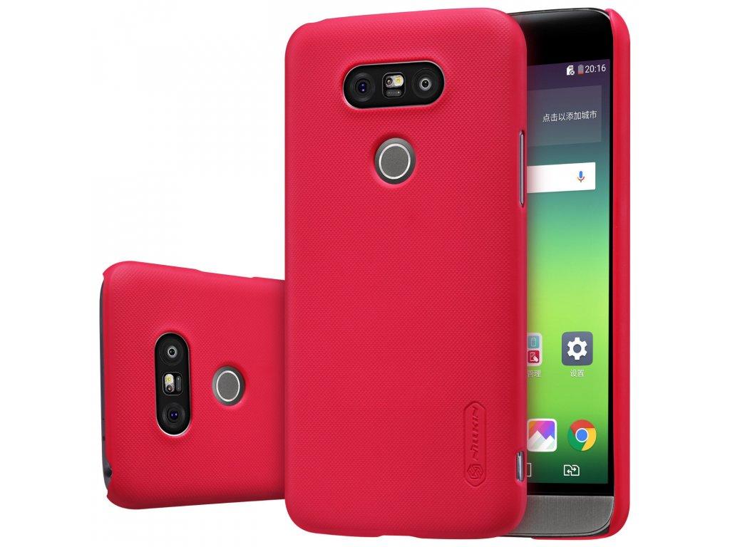 Plastový Nillkin kryt (obal) pre LG G5 - červený (red)
