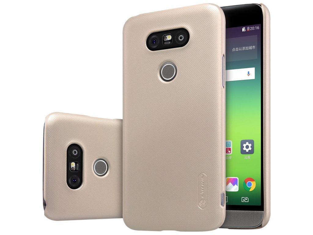Plastový Nillkin kryt (obal) pre LG G5 - zlatý (gold)