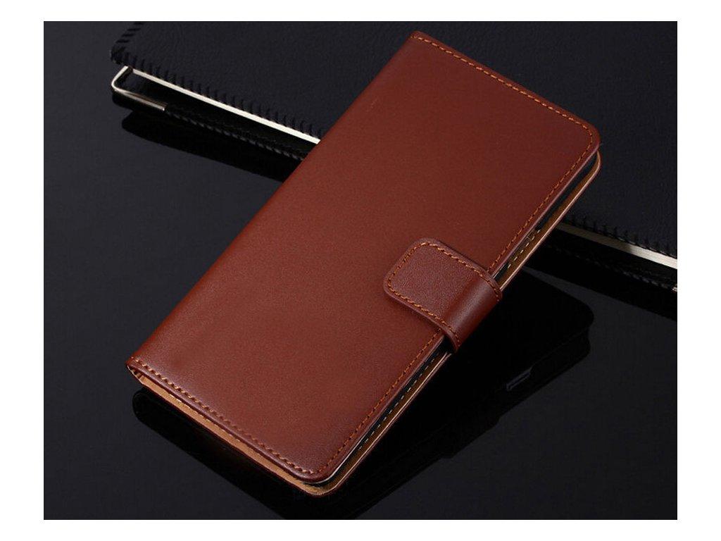 Flip Case (puzdro) pre HTC 10 - hnedé (brown)