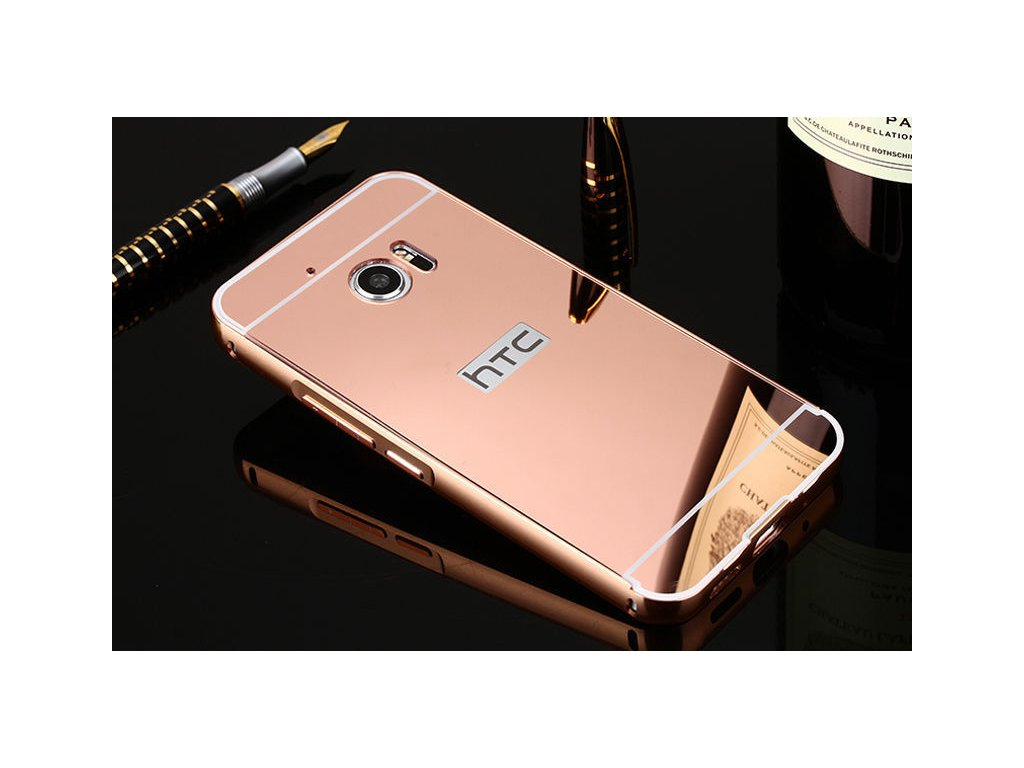 Hliníkový kryt (obal) pre HTC 10 - rose gold