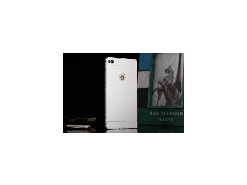 Hliníkový kryt (obal) pre Huawei P8 Lite - strieborný (silver)