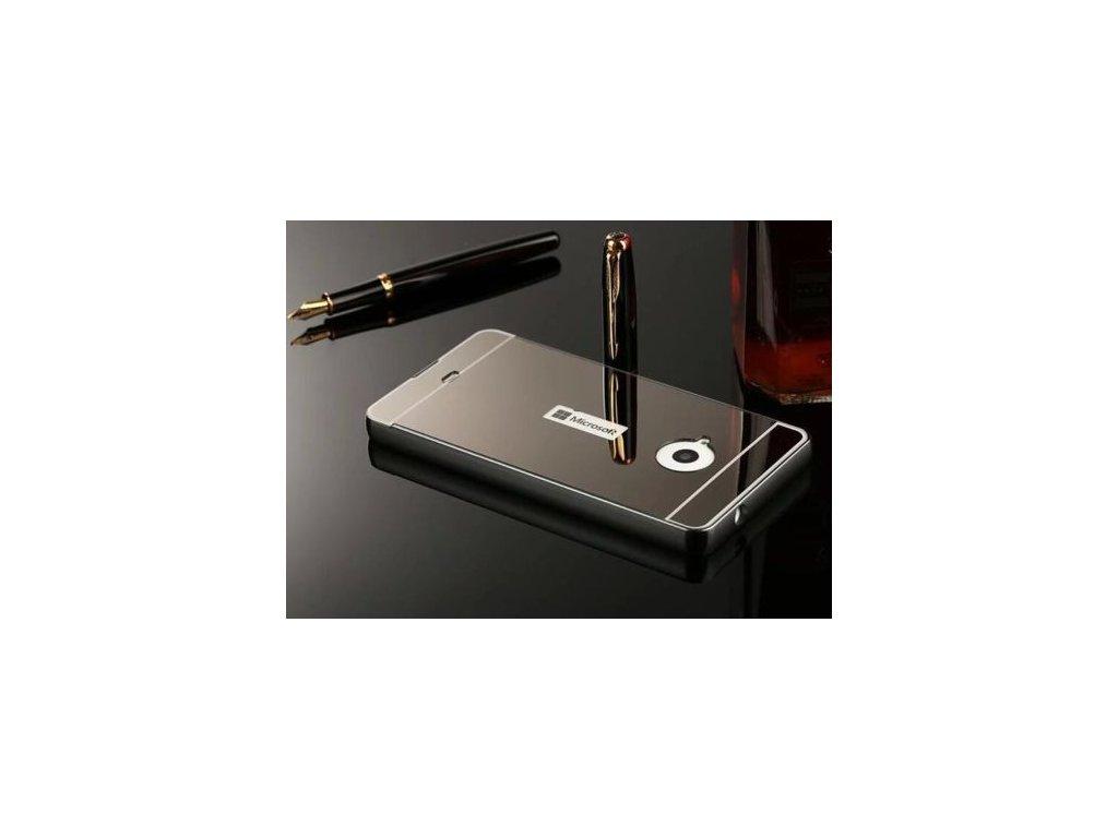 Hliníkový kryt (obal) pre Nokia Lumia 550 - čierny (black)