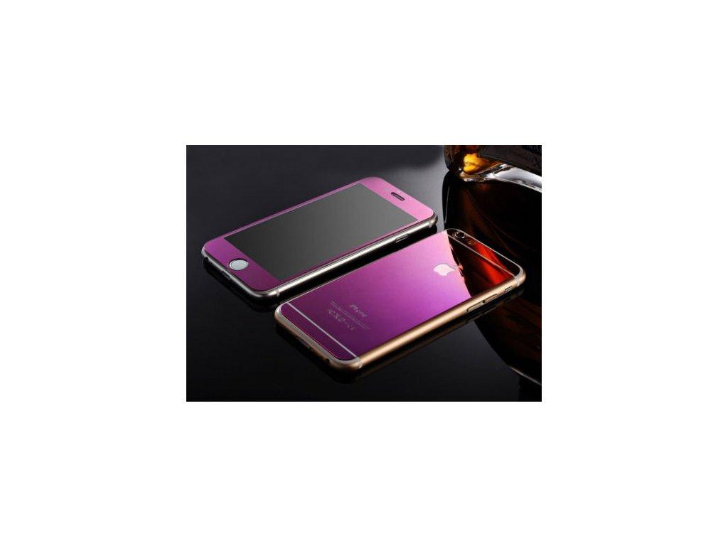 Tvrdené sklo pre prednú aj zadnú stranu - iPhone 6/6S - purple (fialové)