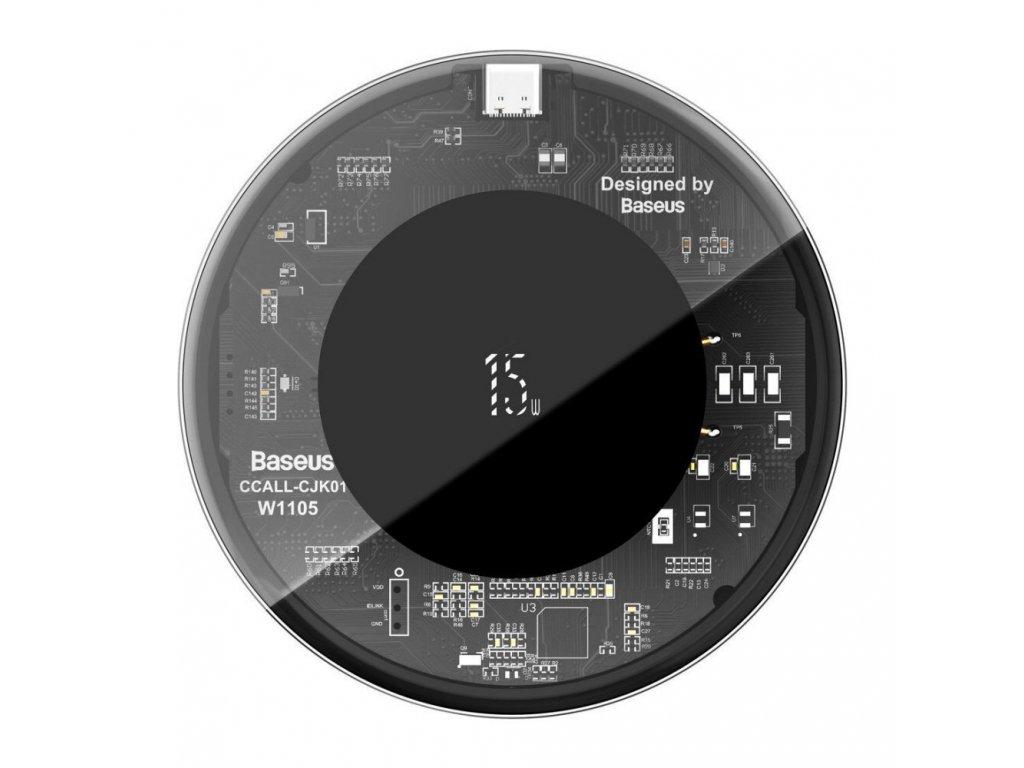 Baseus Simple Wireless Charger bezdrôtová nabíjačka - čierna priesvitná