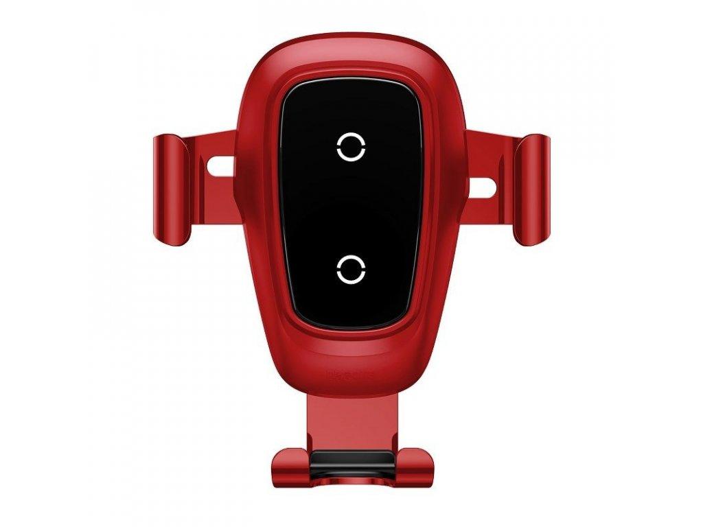 Baseus Metal Wireless Charger držiak do auta - červený
