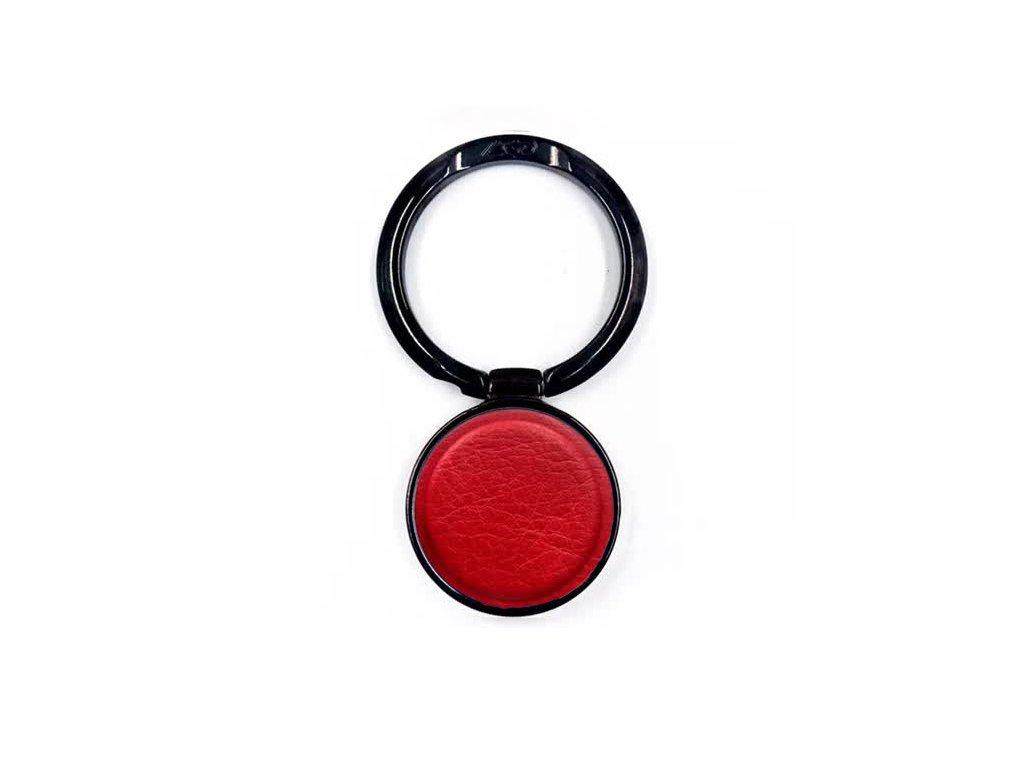 LGD Leather kovový držiak na mobil - prsteň - červený