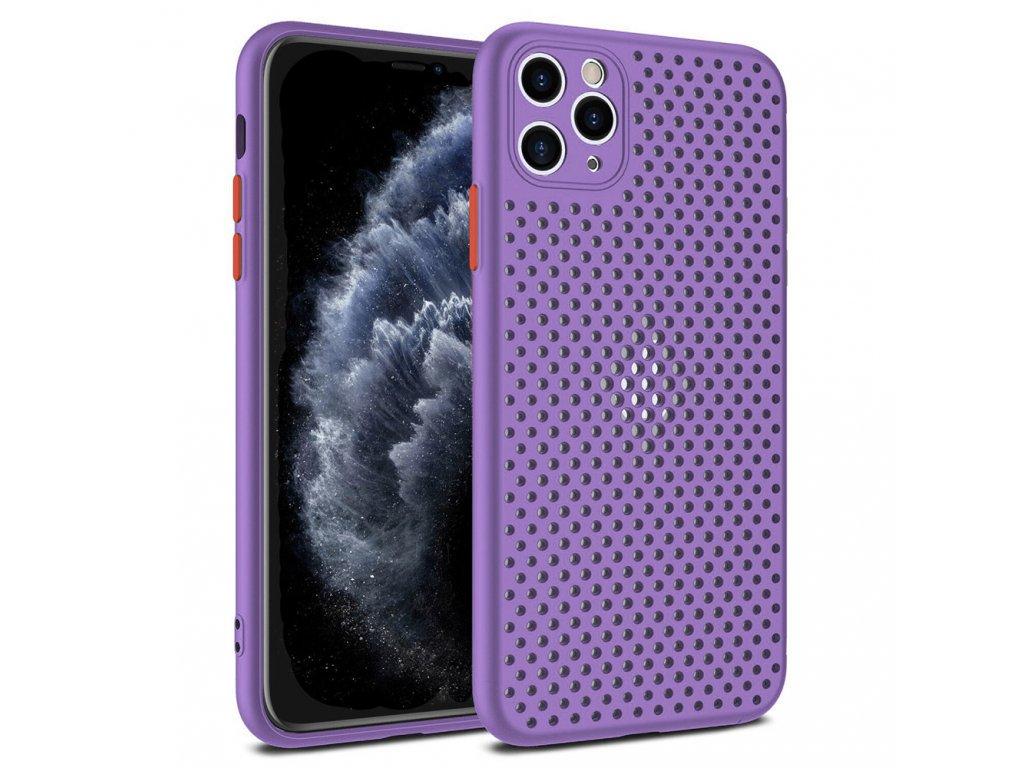 Breath Case silikónový kryt (obal) pre iPhone 12/12 Pro - fialový