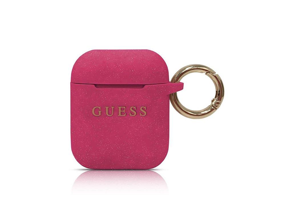 GUESS Silicone puzdro pre Apple Airpods - ružové
