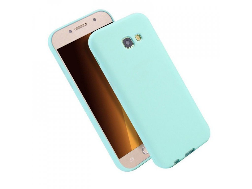 Silikónový kryt (obal) pre Samsung Galaxy A3 2017 (A320F) - sv. modrý