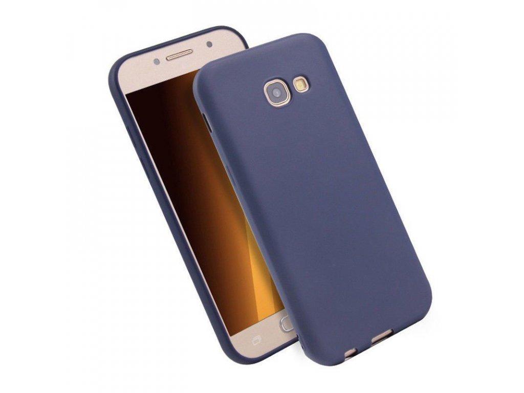 Silikónový kryt (obal) pre Samsung Galaxy A3 2017 (A320F) - tm. modrý
