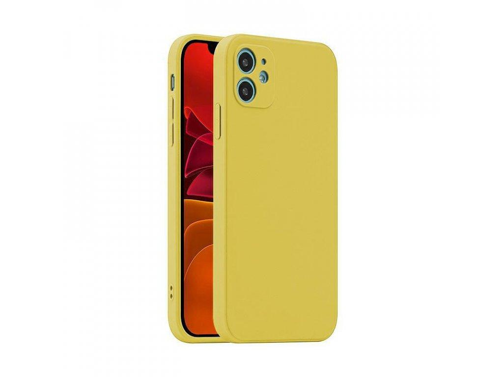 Fosca Case silikónový kryt (obal) pre Samsung Galaxy A52/A52 5G/A52s 5G - žltý