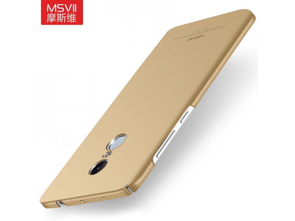 Plastový kryt (obal) pre Xiaomi Redmi Note 4 - gold (zlatý)