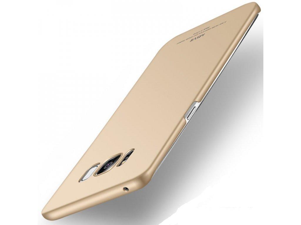 Plastový kryt MSVII pre Samsung Galaxy S8 Plus - simple gold (zlatý)