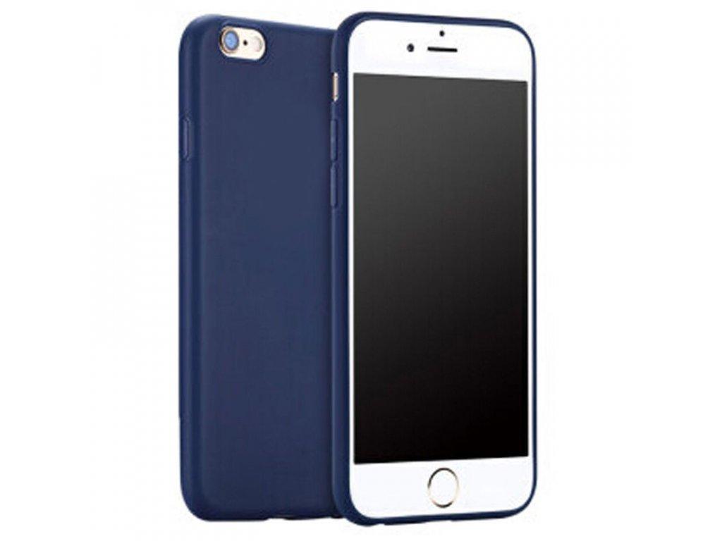 Silikónový kryt na iPhone 7/8/SE 2020 tm. modrý