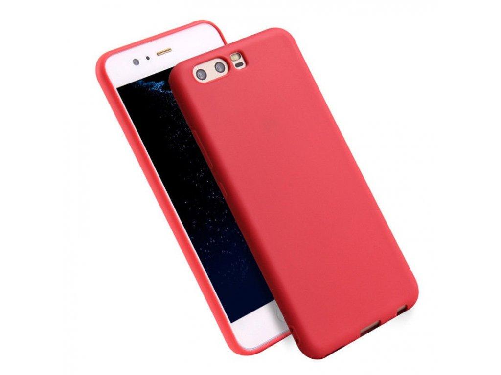 Silikónový kryt (obal) pre Huawei P10 Plus - red (červený)