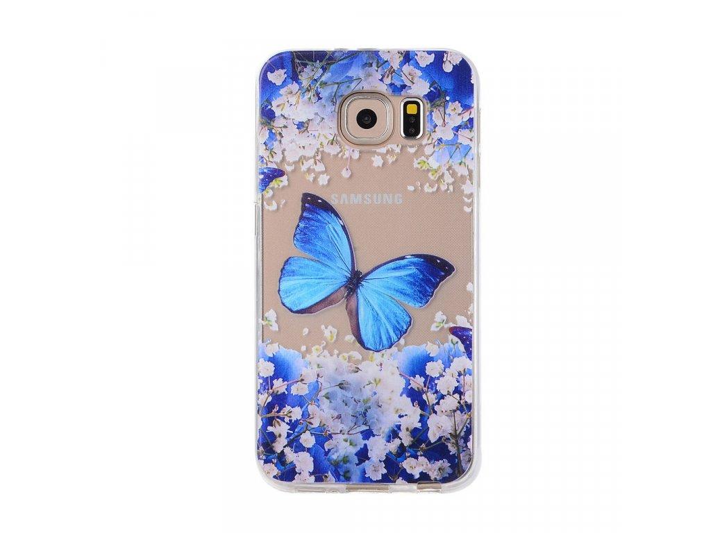 Silikónový kryt (obal) pre Samsung Galaxy A3 2017 (A320F) - motýľ