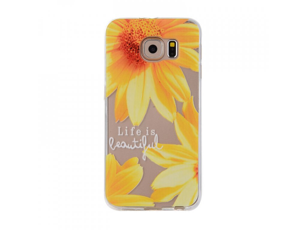 Silikónový kryt (obal) pre Samsung Galaxy A3 2017 (A320F) - kvety