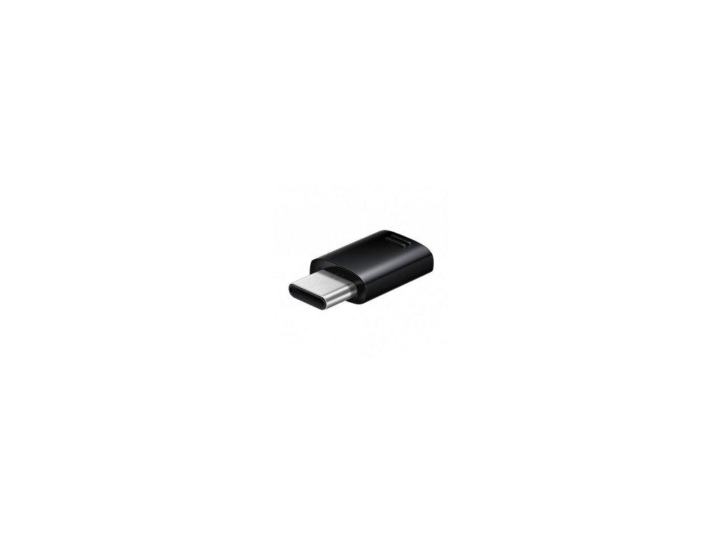 Originálny Samsung adaptér z micro USB na typ C - čierny