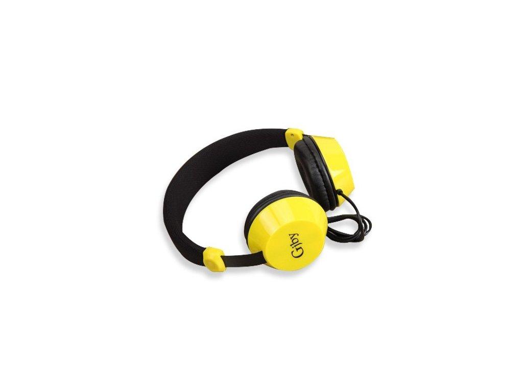 Slúchadlá  On-Ear Stereo Headset GJ-08 black - čierno-žlté