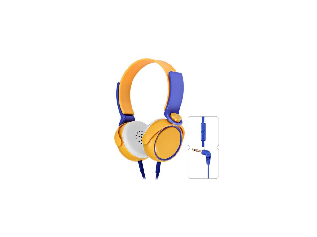 Slúchadlá  On-Ear Stereo Headset EP-17 black - žlto-modré